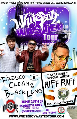 White Boy Wasted Tour ft. Riff Raff