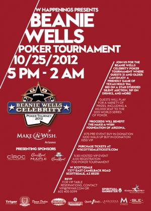 Beanie Wells Poker Tournament