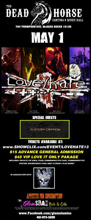 LOVE/HATE -TICKETS AVAIL AT DOOR