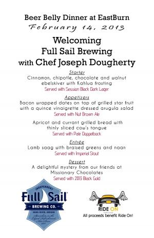 Beer Belly Dinner with Full Sail