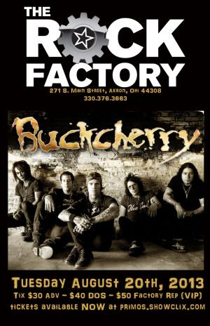 BUCKCHERRY COMES TO AKRON