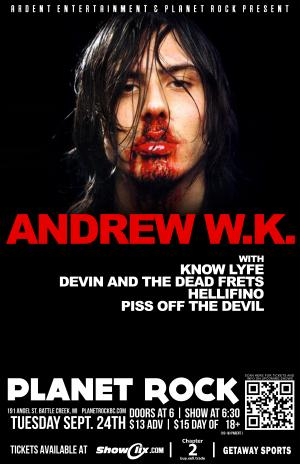 "ANDREW W.K. ""Party Messiah Tour"""