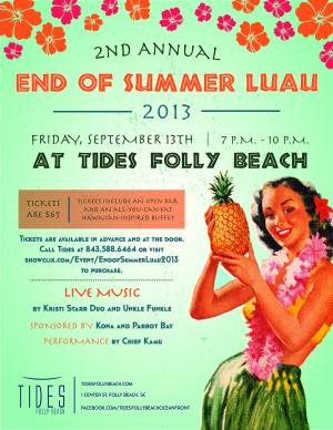 End of Summer Luau 2013