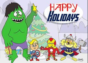 Island of Misfit Avengers Holiday Party