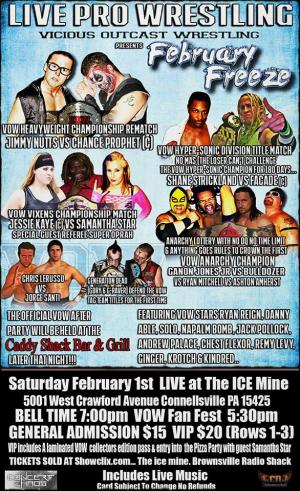 VOW - FEB FREEZE - FEB 1 - ICE MINE, CONNELLSVILLE