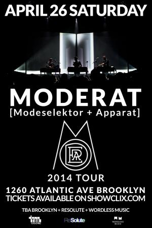 Moderat Tour 2014 New York