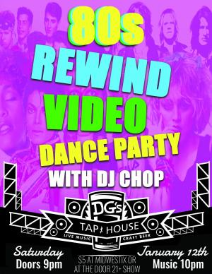 80s Rewind Video Dance Party with DJ Chop