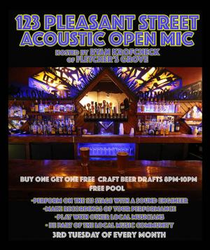 Acoustic Open Mic featuring Charles Godwin (showcase) hosted by Ryan Krofcheck