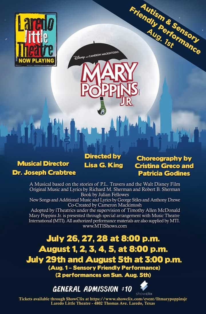 Autism Friendly Performance Of Disneys >> Tickets For Disney S Mary Poppins Jr Sensory Friendly In Laredo