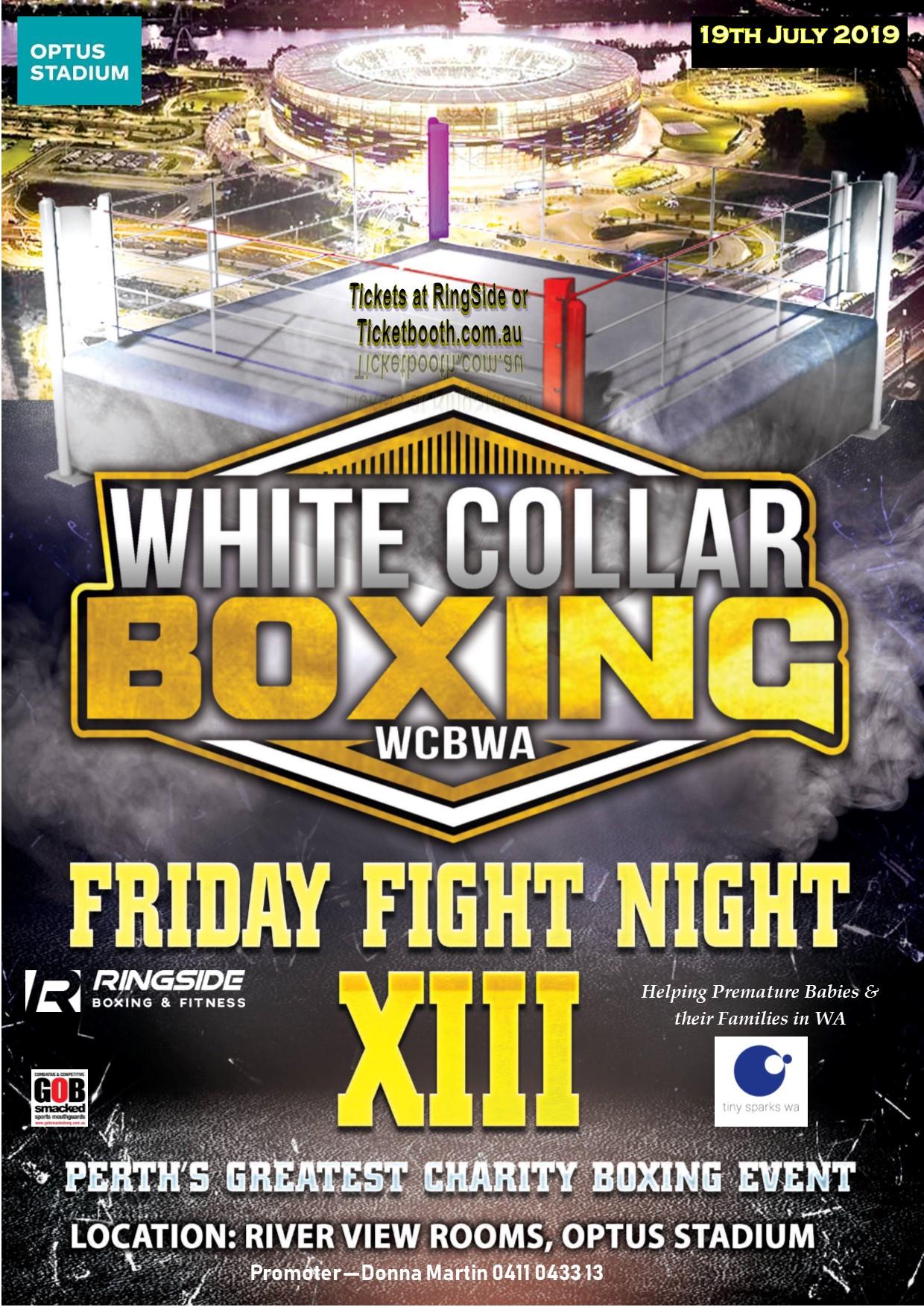 White Collar Boxing WA charity event #13