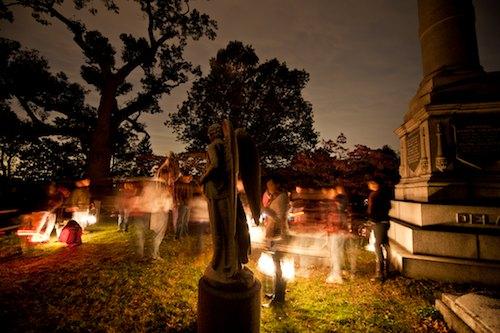 sleepy hollow cemetery in tarrytown, new york