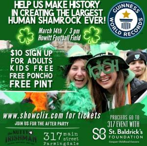 The Largest Human Shamrock Event