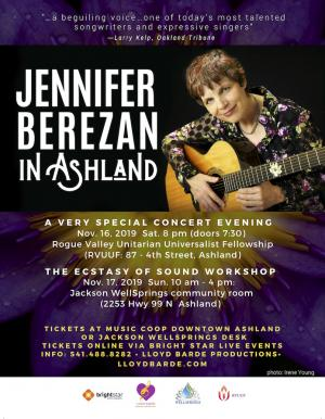 Jennifer Berezan in Ashland: Special Concert and