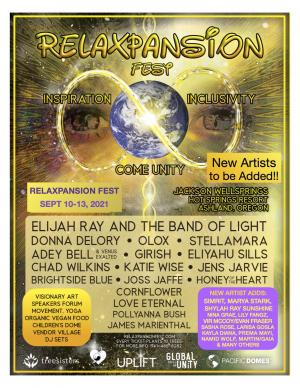 RelaxPansion Fest 2021  -  Inspiration  - Come Unity  -  Inclusivity
