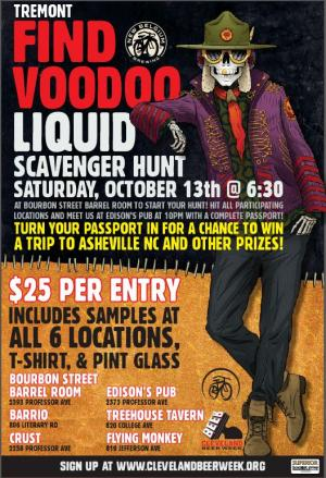 Find Vodoo Liquid Scavenger Hunt 2018