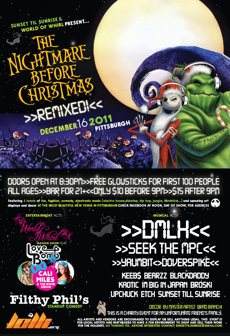 Tickets for nightmare before christmas remixed in Pittsburgh, from ...