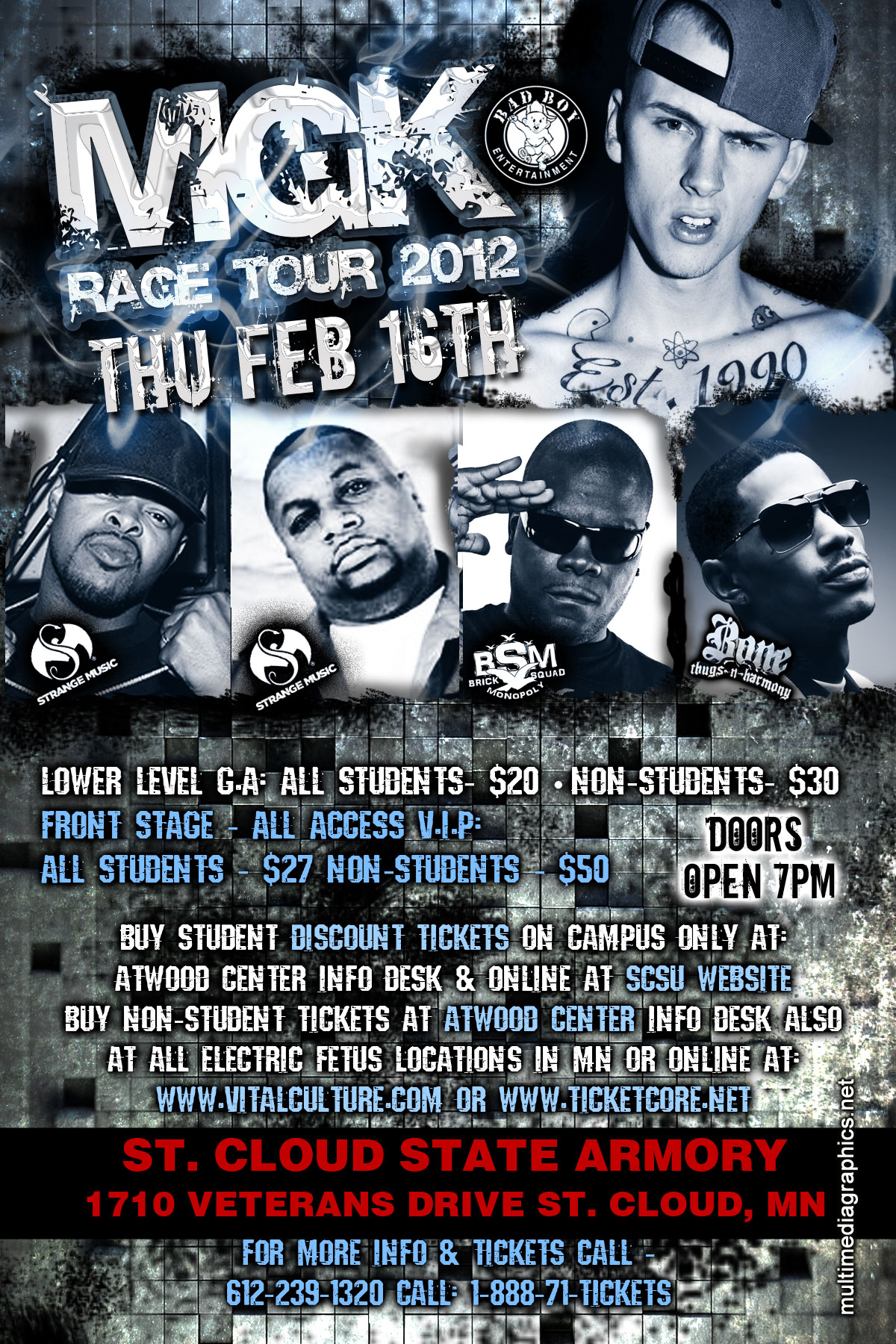 Tickets For Mgk Rage Tour 2012 In St Cloud From Showclix