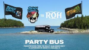 Supercard of Honor x Bullet Club Beach Party Bus