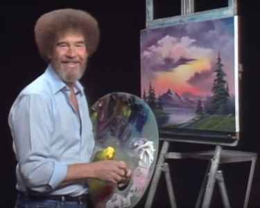 Bob Ross Painting Class at The Workspace