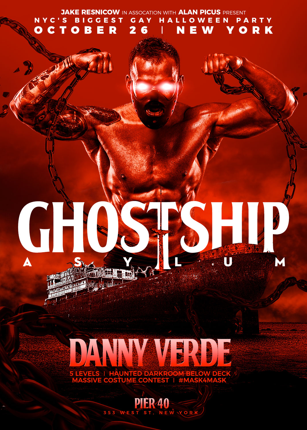 tickets for ghostship | halloween nyc main event | dj danny verde in