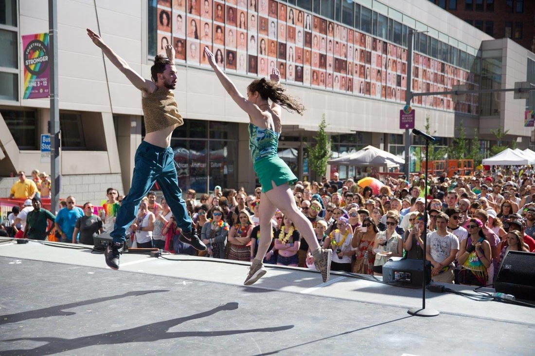 slowdanger performs above PGHPride June 2016