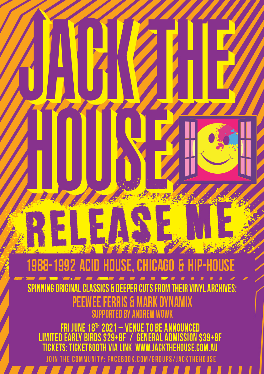 Jack The House: Release Me flyer