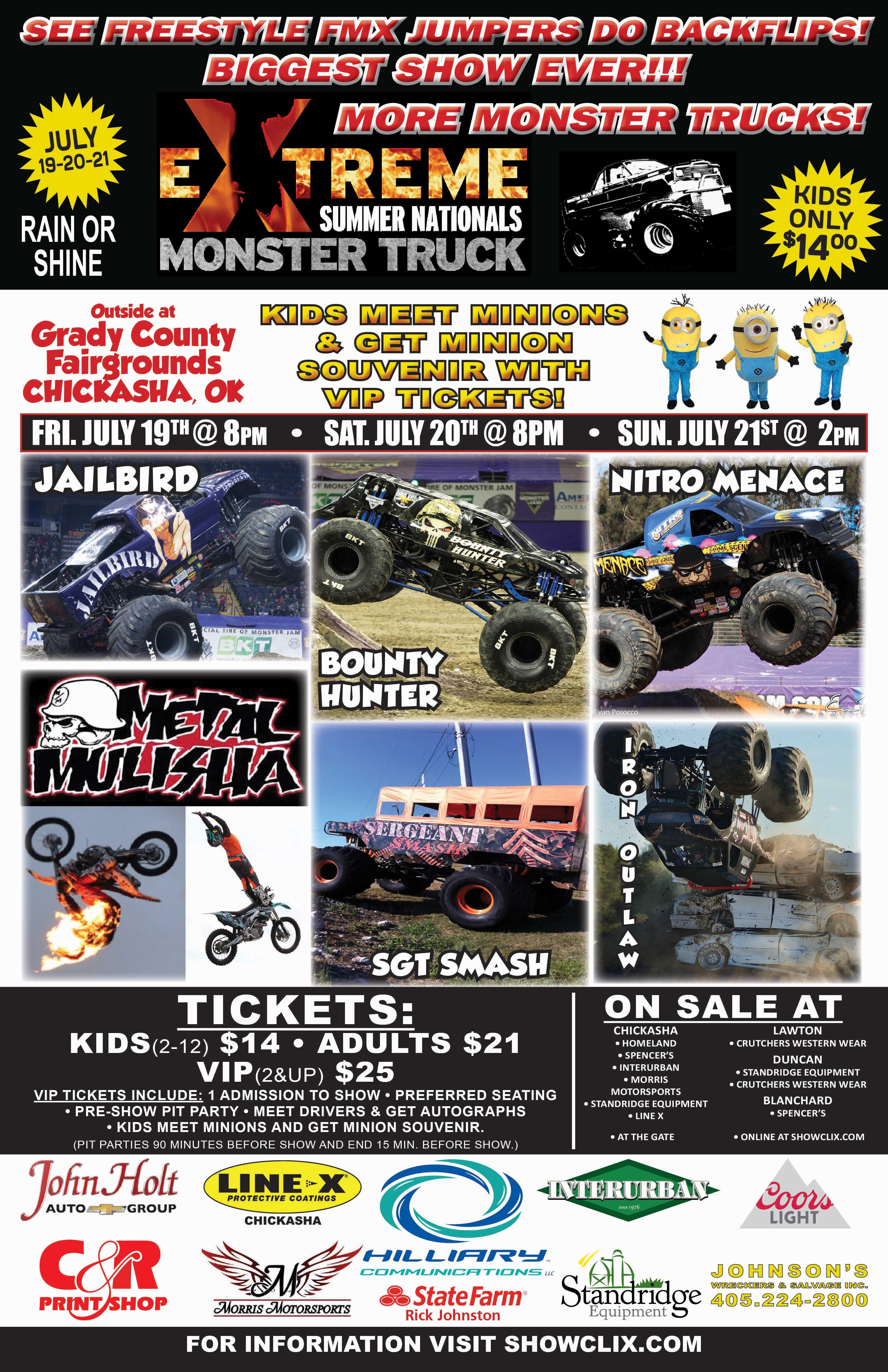 Tickets for MONSTER TRUCK SUMMER NATIONALS CHICKASHA OK
