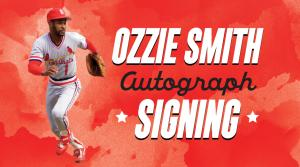 Ozzie Smith Autograph Signing