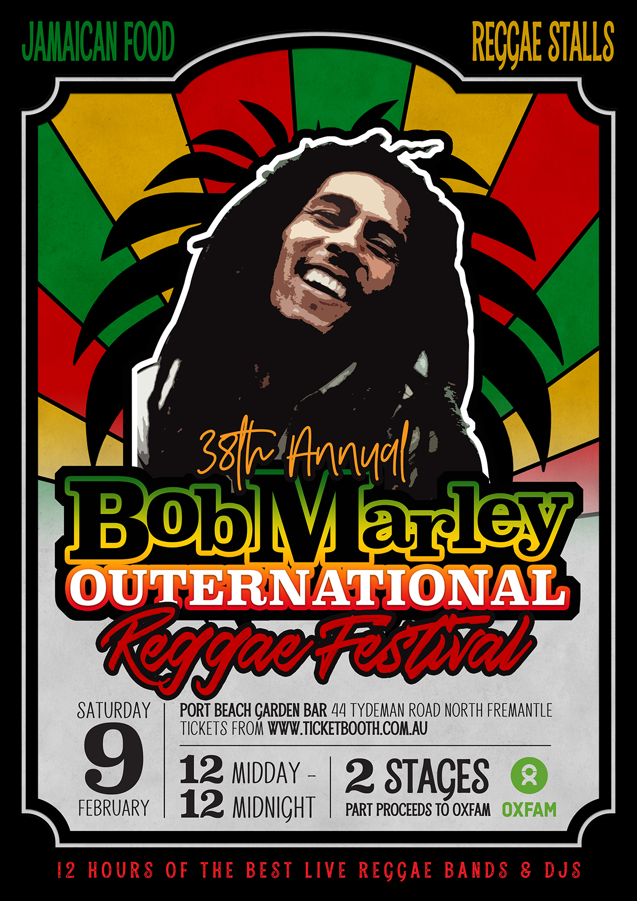 Dj Booth For Sale >> Tickets for Bob Marley Outernational Reggae Festival in Perth from Ticketbooth