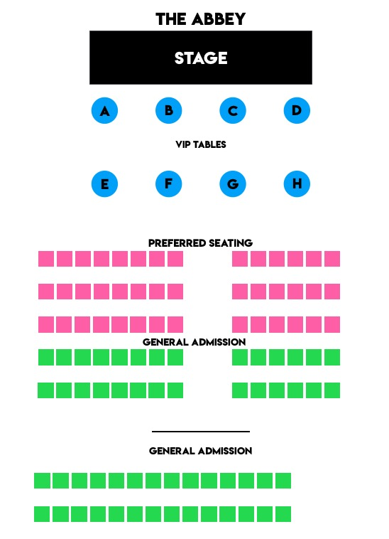 The Abbey Seating Chart