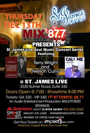 Terry Wright and Nelson Curry at St. James Live