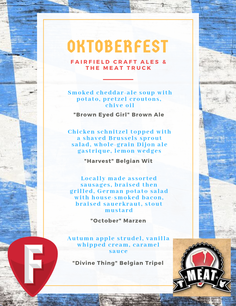 FCA/Meat Truck Oktoberfest beer dinner menu