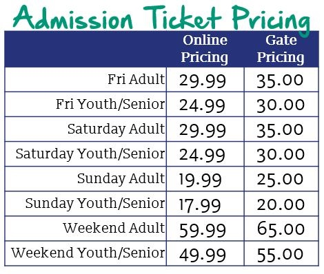 Admission Ticket Pricing