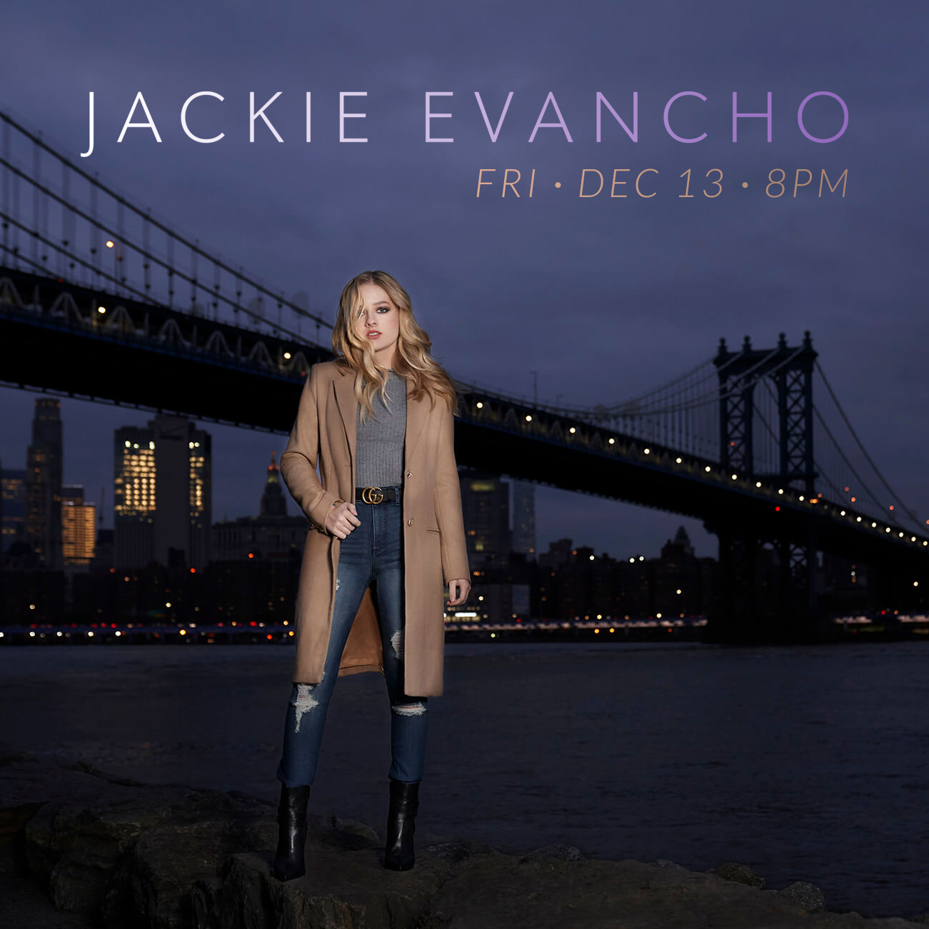 Jackie Evancho at The Newton Theatre in Newton on 2019-12-13