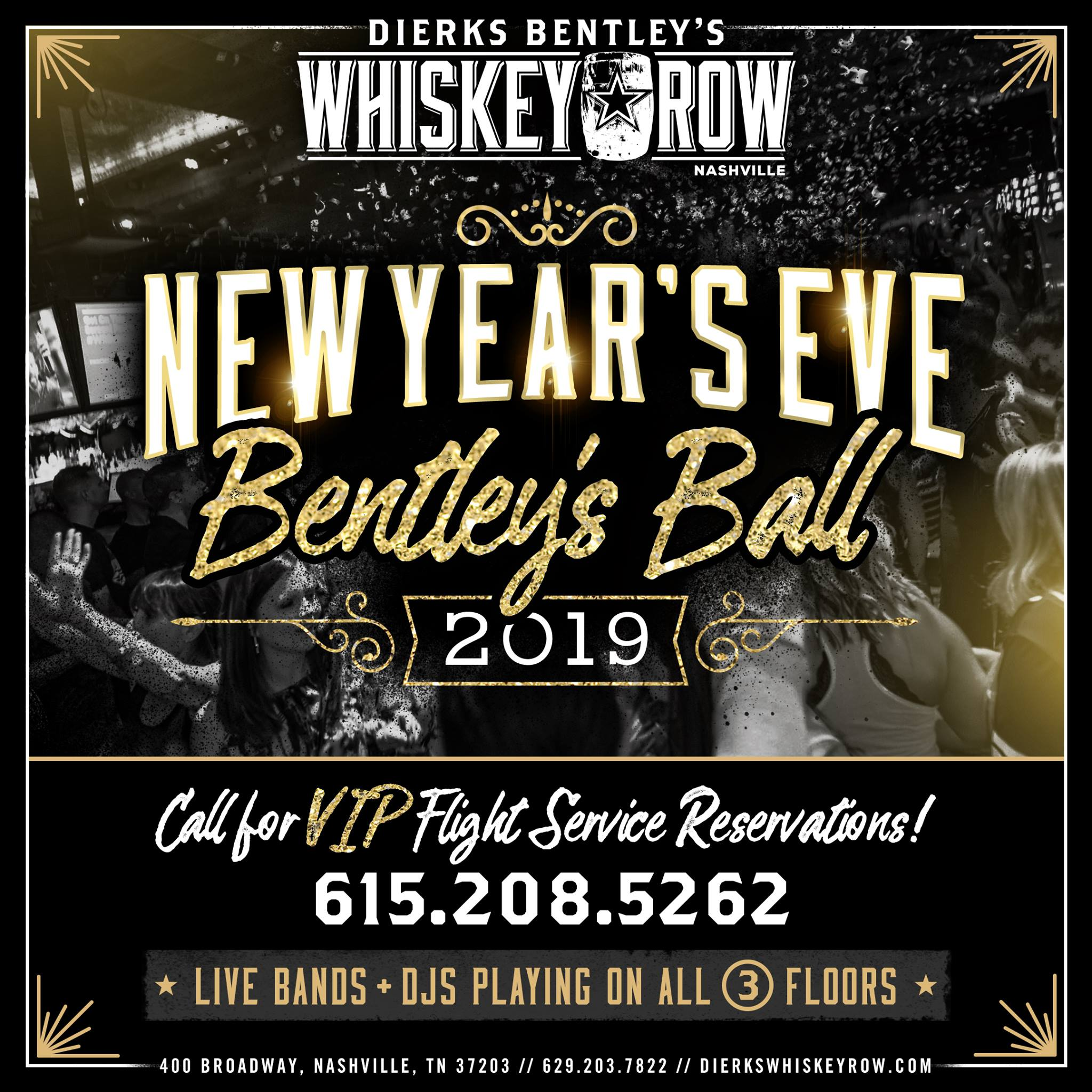 tickets for nye 2019 @ dierks bentley's whiskey row nashville in