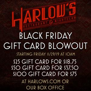 Black Friday Gift Card Blowout