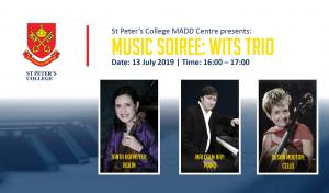 St Peter's College: Music Soiree - Wits Trio