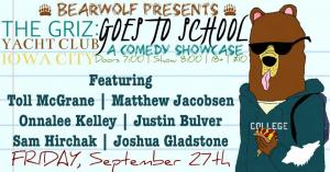 Comedy Showcase presents The Griz: Goes To School