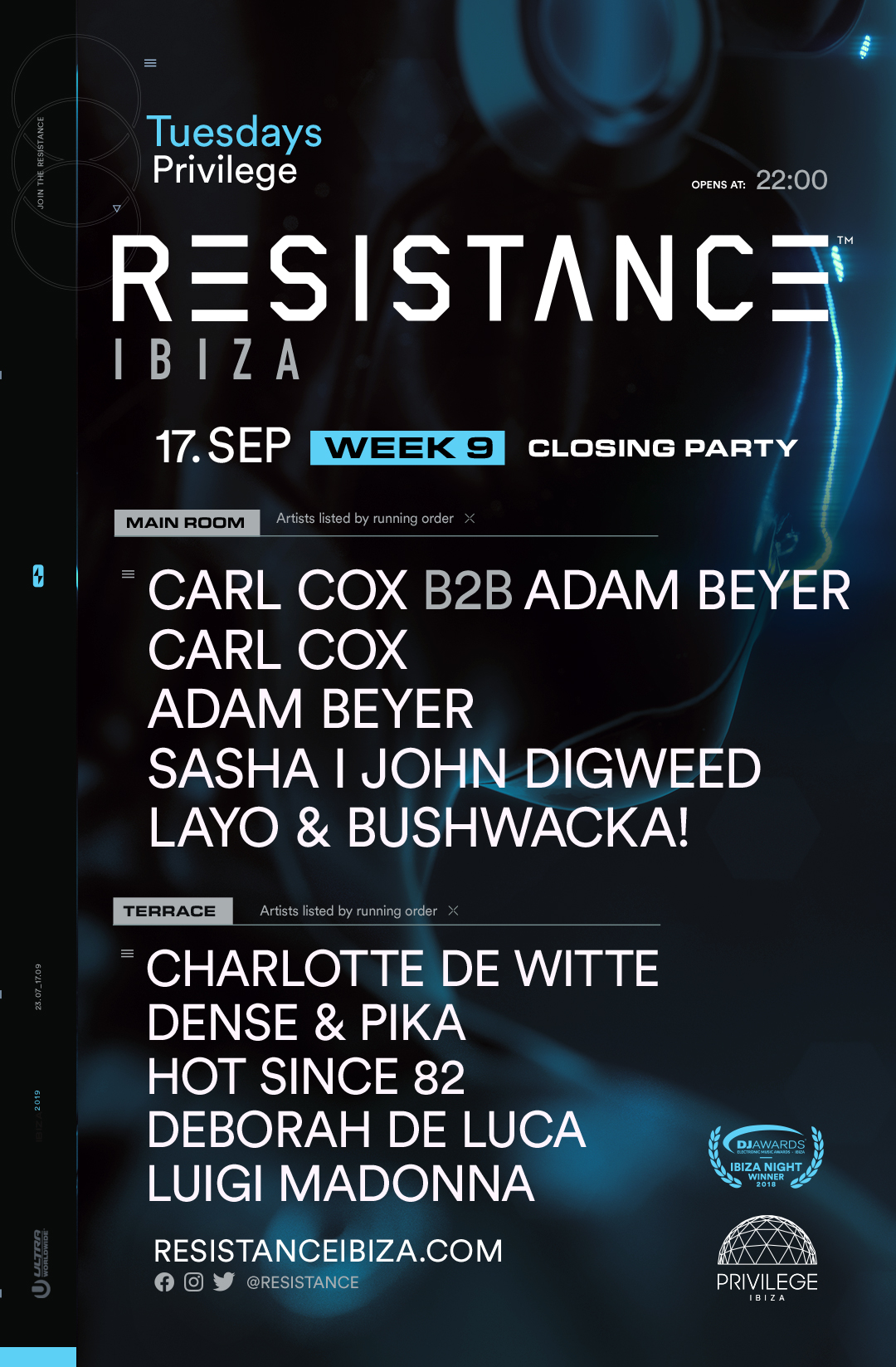 RESISTANCE Ibiza Closing Party Lineup