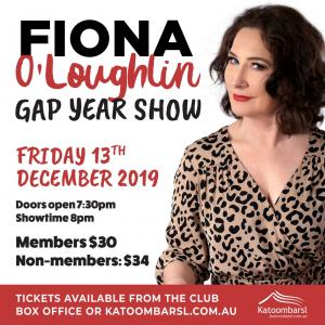 Fiona O'Loughlin - Gap Year Show at Katoomba RSL