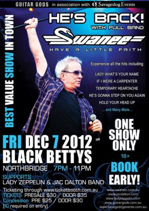 Swanee Back To Rock Perth!