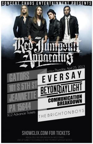 Red Jumpsuit Apparatus @Gators 4/25