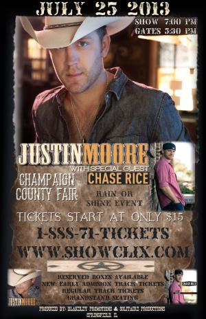 JUSTIN MOORE CONCERT - RESERVED BOXES