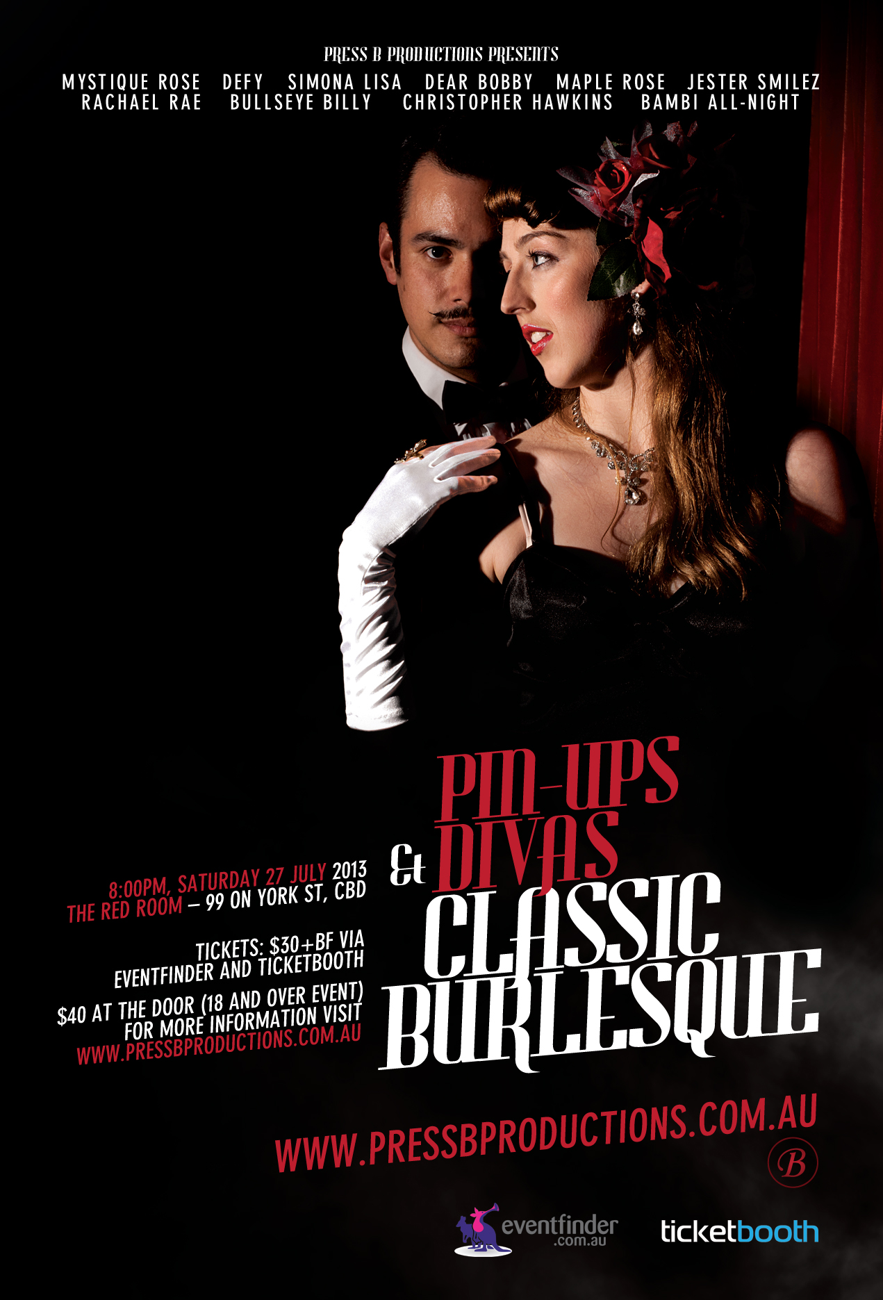 Tickets For Pin Ups And Divas Classic Burlesque In Sydney From