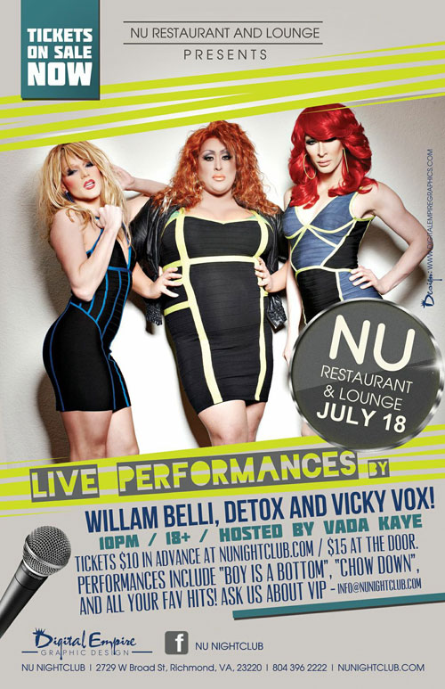 Tickets for Vicky, Willam and Detox Live! in Richmond from