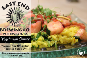 Vegetarian Dinner with East End Brewing