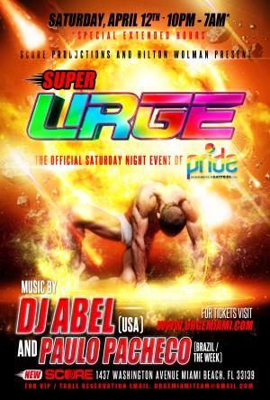 SuperURGE with DJ's Abel and Paulo Pacheco