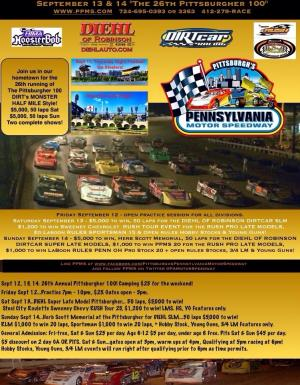 2014 Pittsburgher 100, Sept 12,13,14