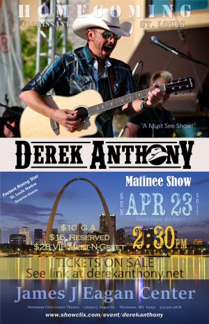 Derek Anthony HOMECOMING Showcase (St.Louis)