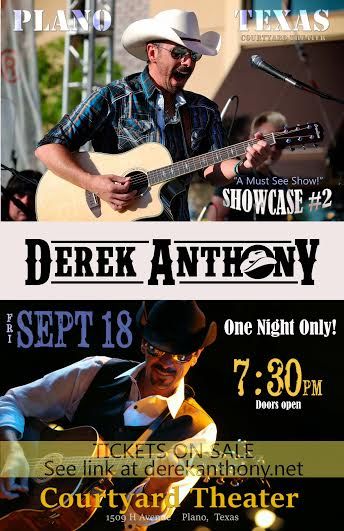 Tickets For Derek Anthony Showcase Plano Tx In Plano From Showclix